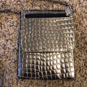 Handbags - SILVER MAKEUP BRUSH BAG